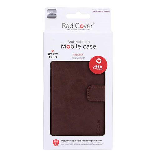 Mobilcover iPhone 11 Pro brun antistråling  PU læder thumbnail