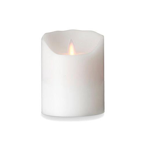 Image of Levelys LED Stearinlys Hvid Glat (Ø8 x 10 cm)