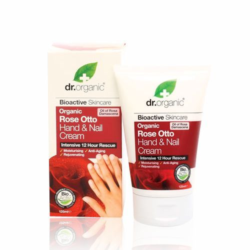 Image of Dr. Organic Rose Otto Hand & Nail Cream (125 ml)