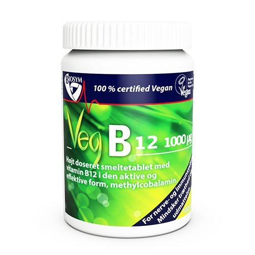 Image of Biosym Veg B12 vitamin - Smeltetablet (120 tabletter)