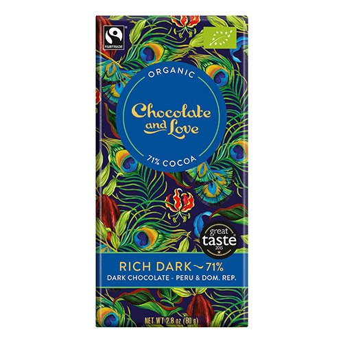 Image of Chocolate and Love Rich dark 71% Ø (80 g)