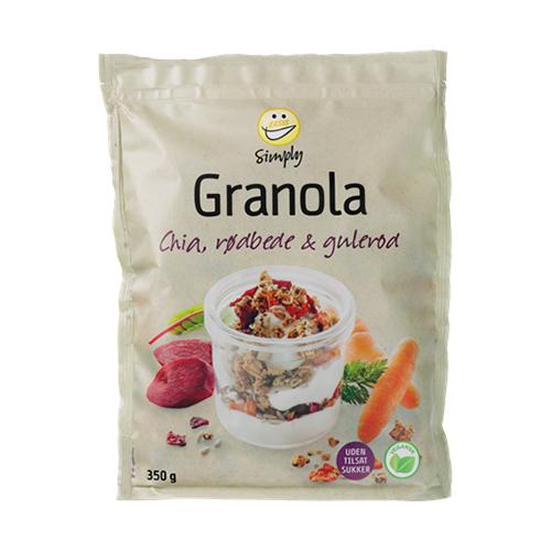 EASIS Granola Chia, Rødbede og Gulerod (350g)