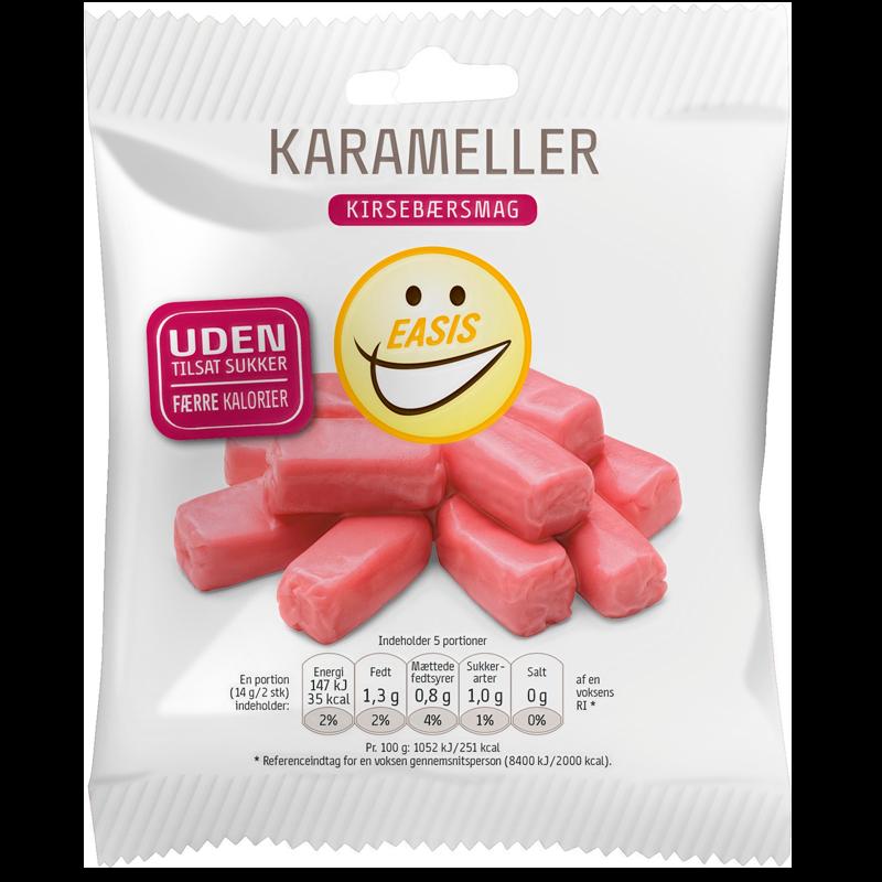 Easis Karameller Med Kirsebærsmag