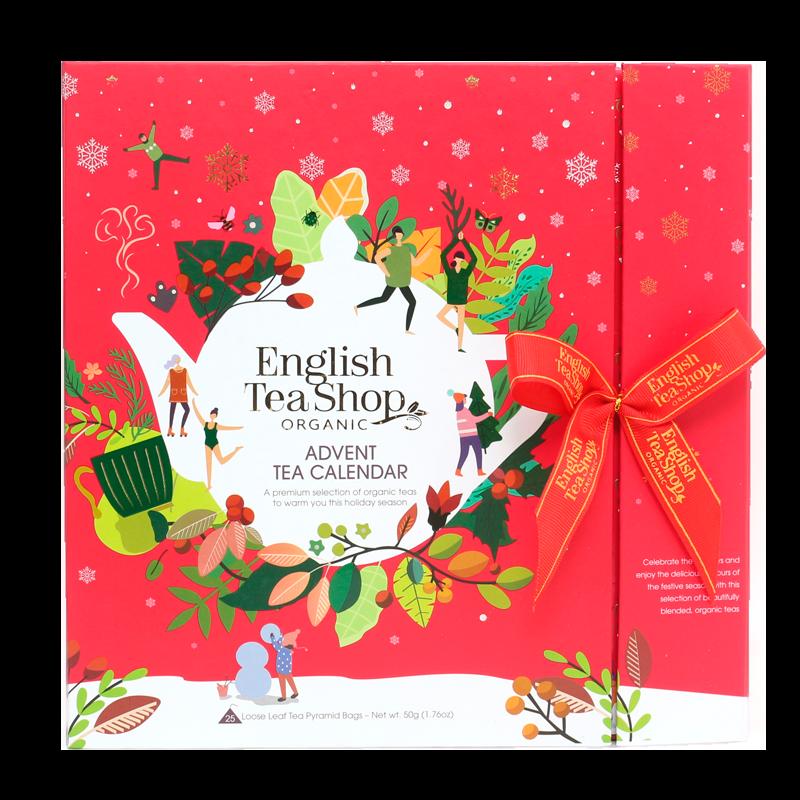 English Tea Shop Book Style Rød Julekalender (1 stk.)
