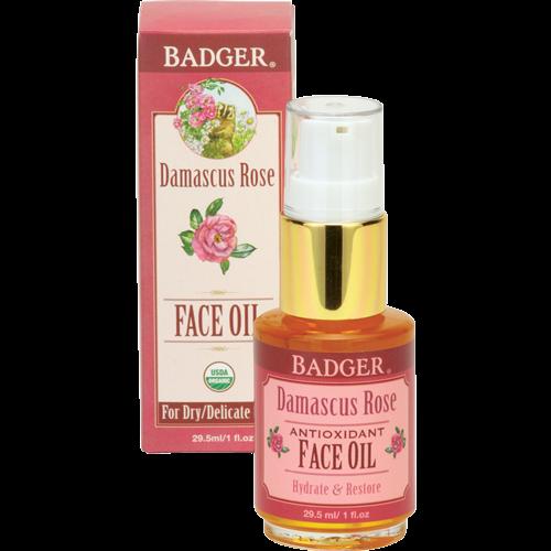 Image of Badger Damascus Rose Face Oil (30 ml)