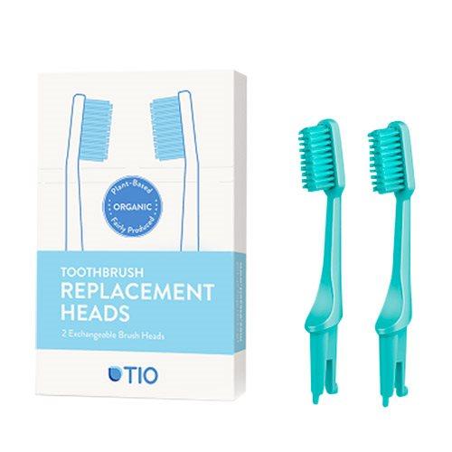TIO Udskiftelige Tandbørstehoveder Grøn (Soft 2 stk) thumbnail