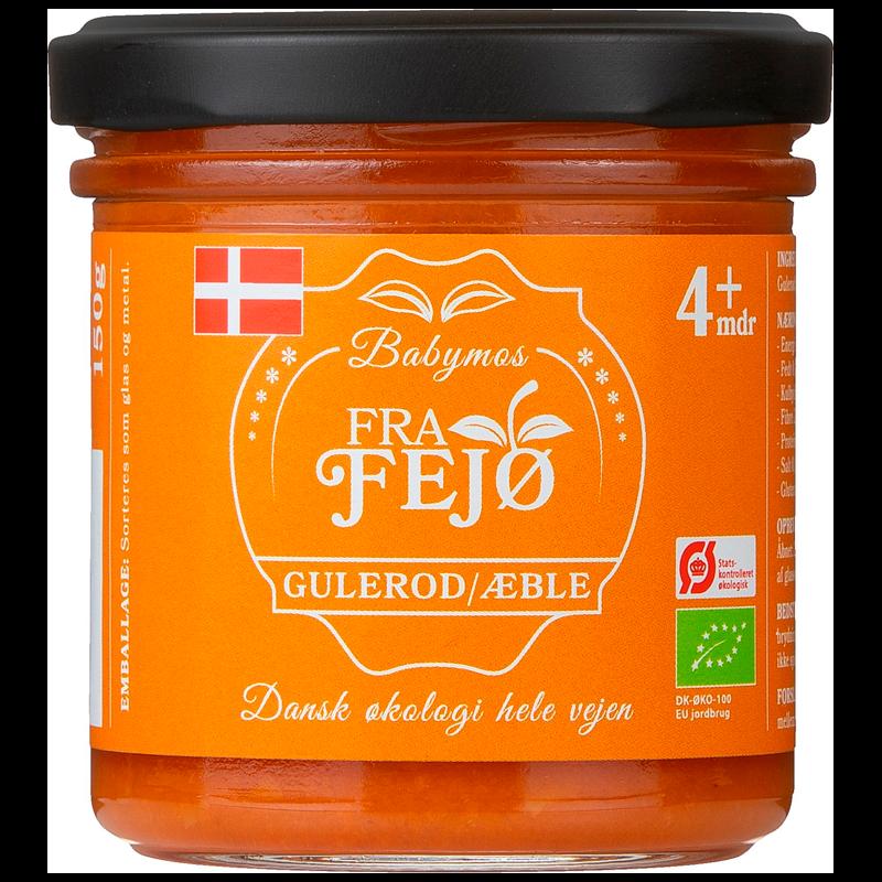 Fra Fejø Babymos Gulerod/Æble Ø