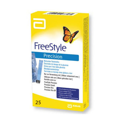 Freestyle Precision Blodsukkerstrimler Teststrimler (25 stk)