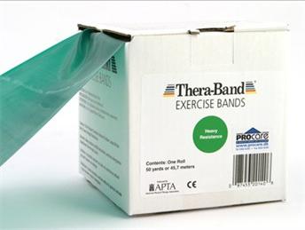 Image of Thera-Band elastik bånd 45m (Grøn - Middel)