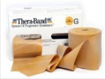Image of Thera-Band elastik bånd 45m (Guld - Ekstrem hård)