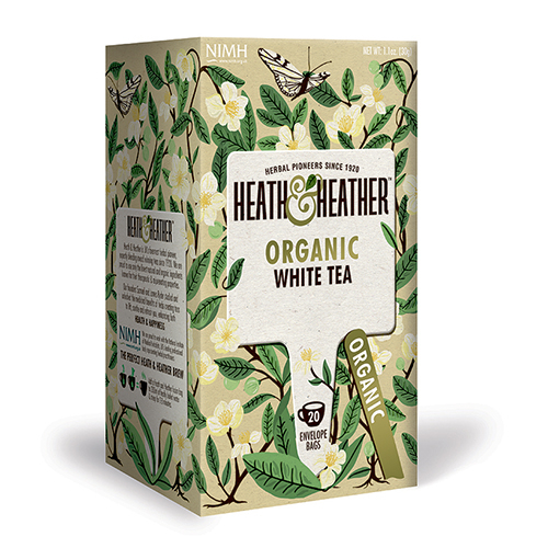 Heath & Heather Organic White Tea (20 breve) thumbnail