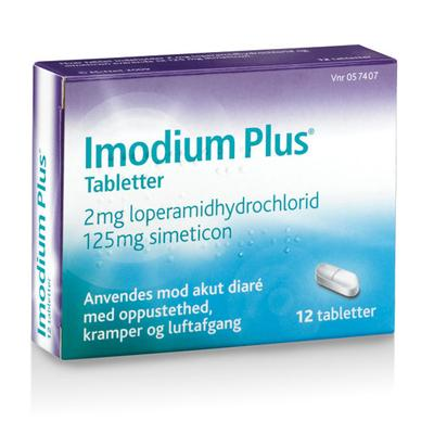 Image of Imodium Plus Tabletter 2+125mg (12 stk)