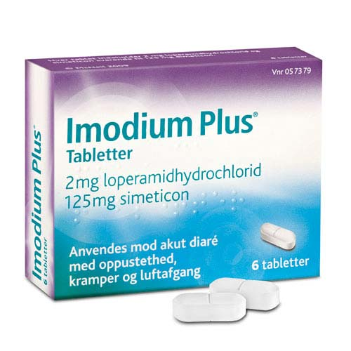 Image of Imodium Plus Tabletter 2+125mg (6 stk)