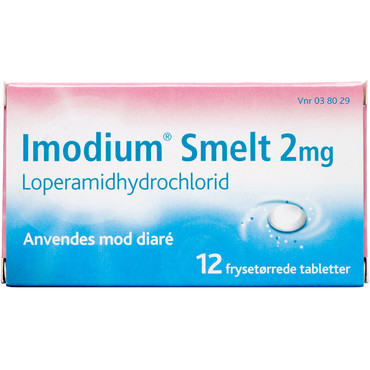 Image of Imodium Smelte Fryse Tablet 2MG (12 stk)