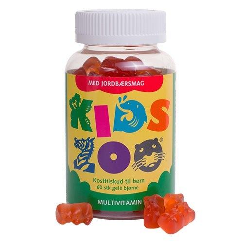Image of Kids Zoo multivitamin m. jordbærsmag (60 stk)