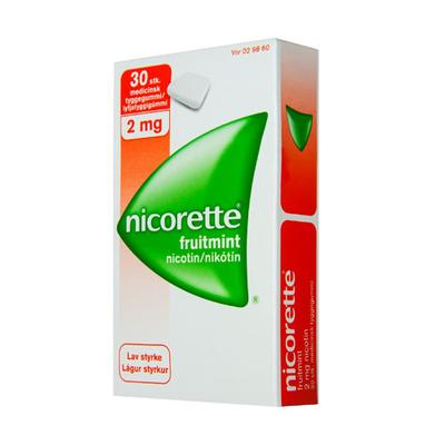 Image of Nicorette Fruitmint Tyggegummi 2 mg (30 stk)