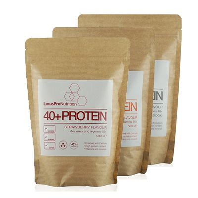 Image of LinusPro WHEY100 Proteinpulver +40 - Flere smagsvarianter (500 g)