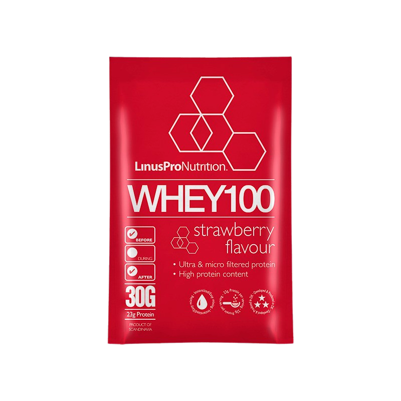 LinusPro Whey100 Brev - Jordbær (30g)