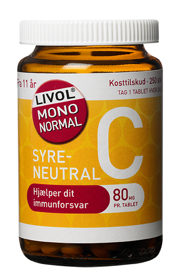Livol Mono Normal C-vitamin 80 mg (280 tabletter) thumbnail