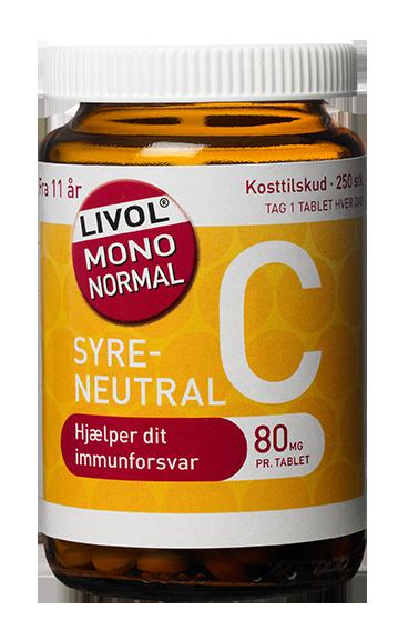 Livol Mono Normal C-vitamin 80 mg (280 tabletter) thumbnail