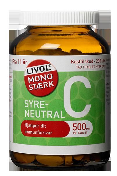 Image of Livol Mono Stærk C - 500 mg syreneutral (230 tabletter)