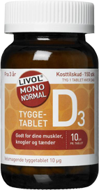 Image of Livol Mono Normal D-vitamin - tyggetabletter (150 tabletter)