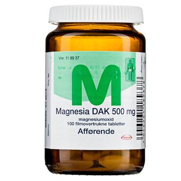 Image of Magnesia DAK 500mg (100 stk.)