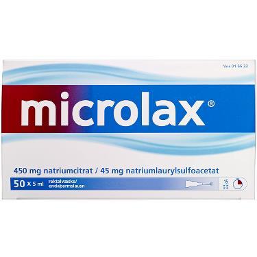 Image of Microlax Rektalvæske OPL 9+90MG/ML (50 stk. 5ML)