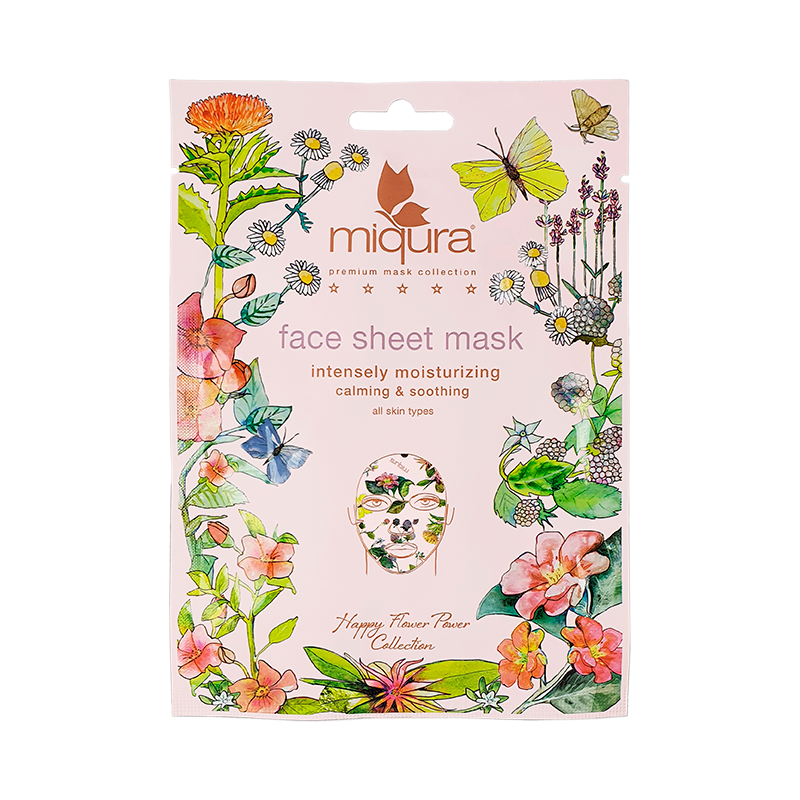 Miqura Flower Face Sheet Mask (1 stk)