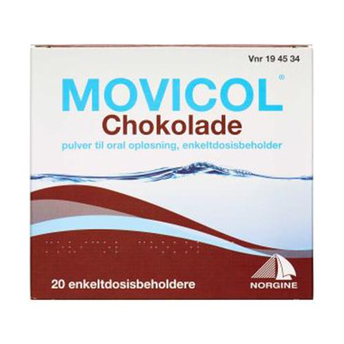 Billede af Movicol Pulver Oral Opløsning - Chokolade (20 breve)