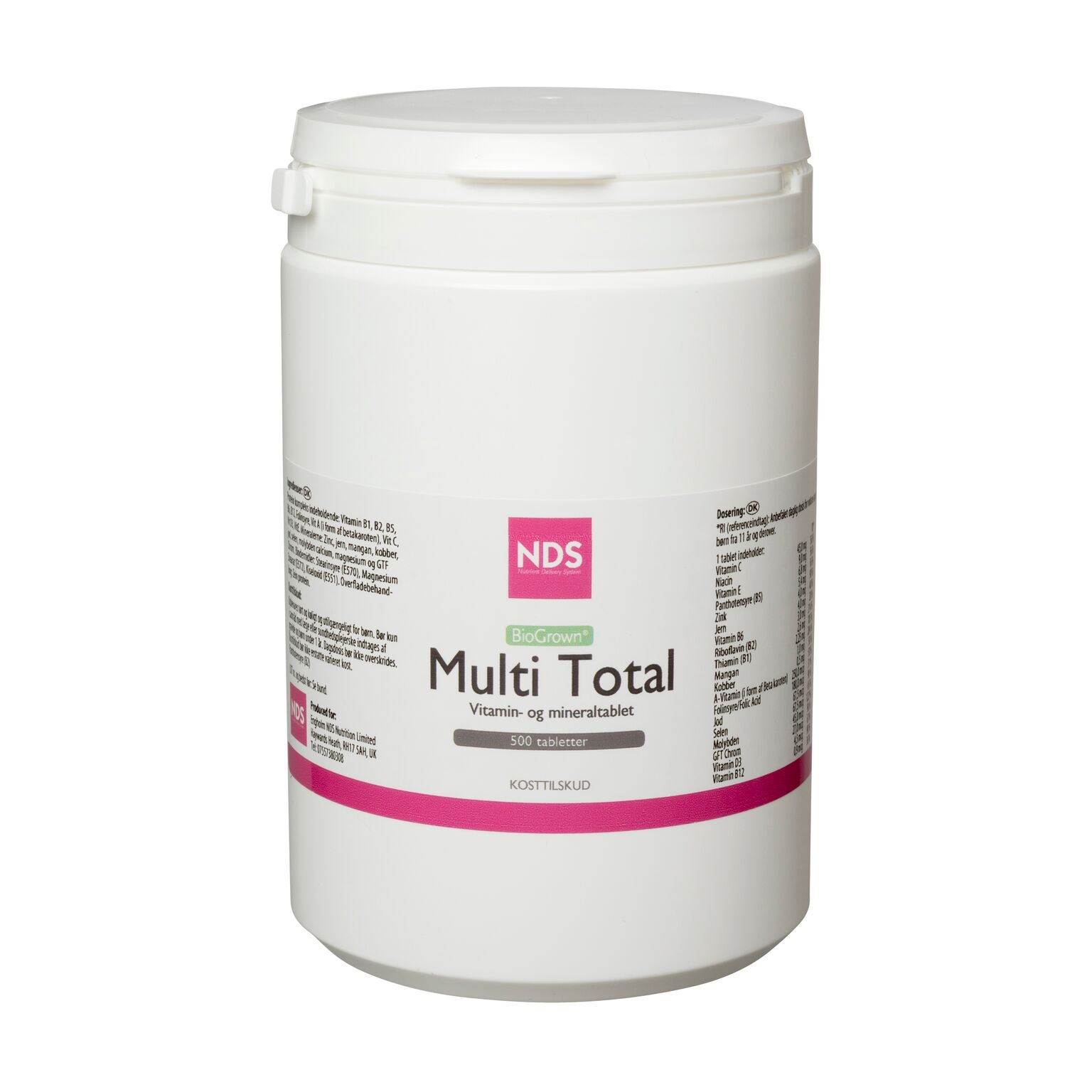 Nds Multi Total - Multivit Og Mineral (500 tab)