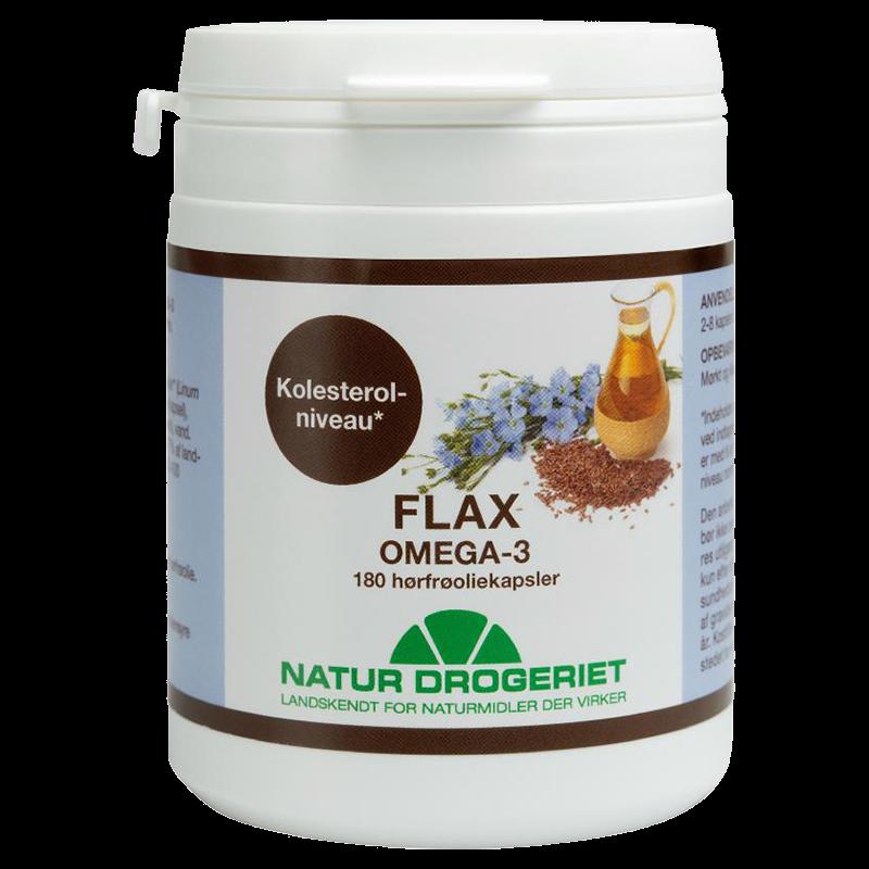 Billede af Natur Drogeriet Flax-Omega 3 med Økologisk Hørfrøolie (180 kaps)