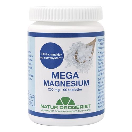 Image of Natur Drogeriet Mega Magnesium 200 mg (90 kapsler)