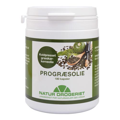 Natur Drogeriet Progræsolie 500 mg (180 kapsler)