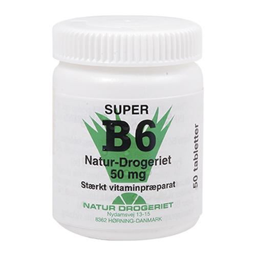 Image of Natur Drogeriet B6 Vitamin 50 Mg (50 tabletter)