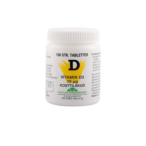 Image of Natur Drogeriet D-Vitamin 10 mcg (180 tabletter)