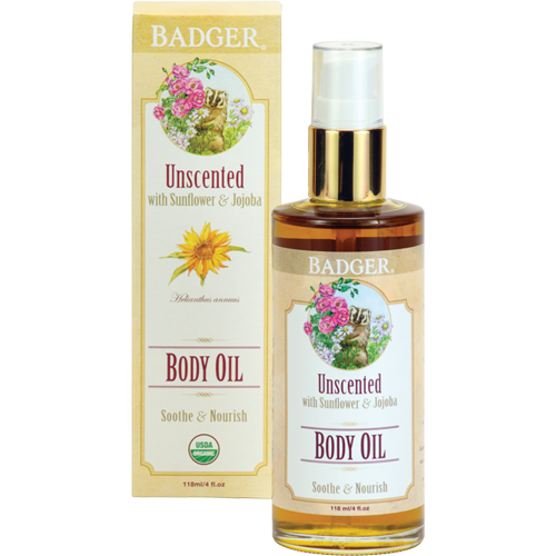 Image of Badgers Body Oil Unscented (120 ml)