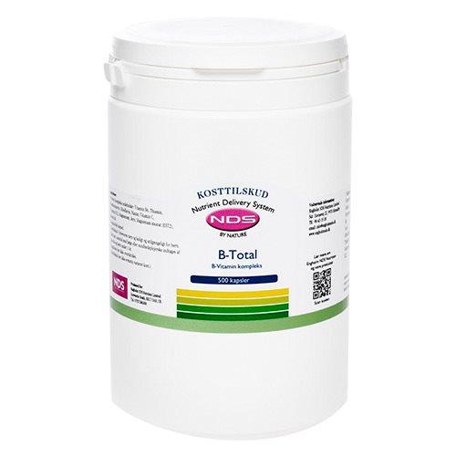 Image of NDS FoodMatriX B-Total B-Vitamin kompleks (500 kapsler)