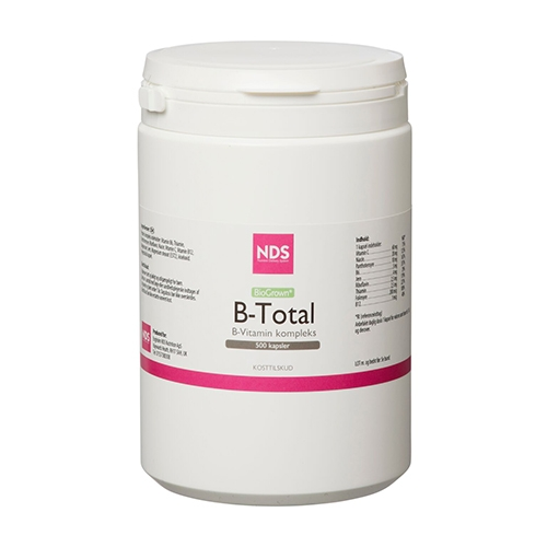 NDS FoodMatriX B-Total B-Vitamin kompleks (500 kapsler)