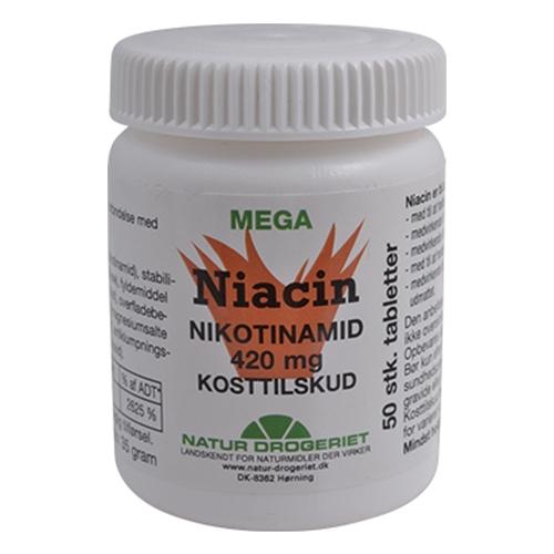 Image of Natur Drogeriet Niacin (nikotinamid) 420 mg (50 tabletter)