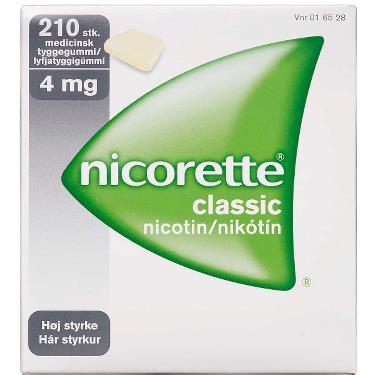 Image of Nicorette Classic Tyggegummi 4MG (210 stk)