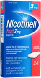 Image of Nicotinell Fruit tyggegummi 2MG (24 stk)