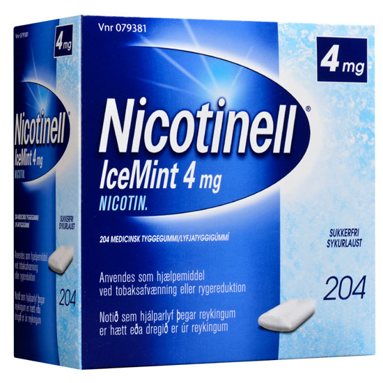 Image of Nicotinell Icemint Tyggegummi 4MG (204 stk)