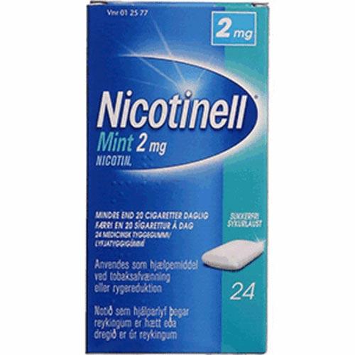 Tilbud på Nicotinell Mint Tyggegummi 2 mg (24 stk)