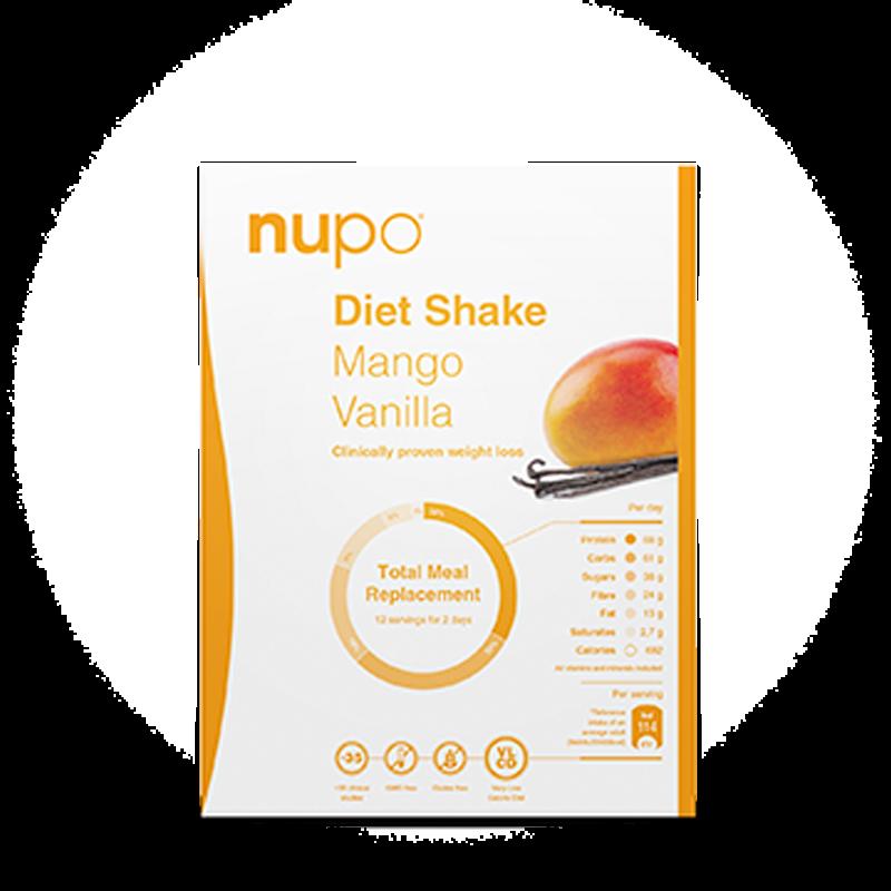 Nupo Diet Shake Mango Vanilla (12 br)