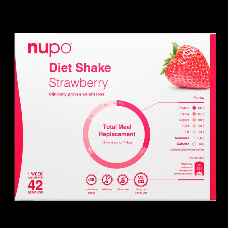 Nupo Diet Shake Strawberry (42x32 g)