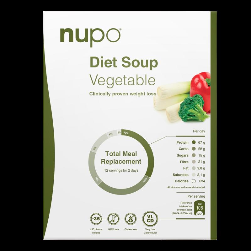 Nupo Diet Soup Vegetable (12x32 g)