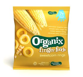 Image of Organix finger foods sweetcorn rings (20g)