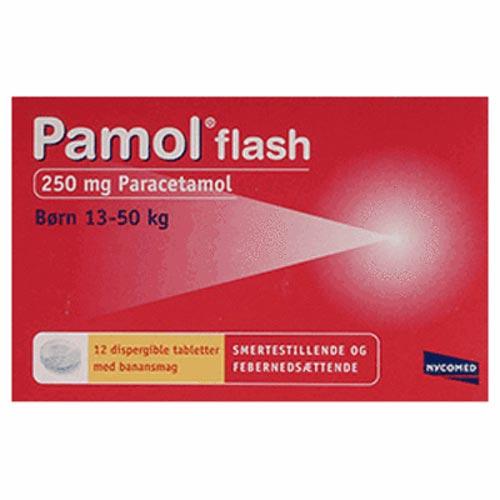 Image of Pamol Flash 250 mg Paracetamol (12 tabletter)