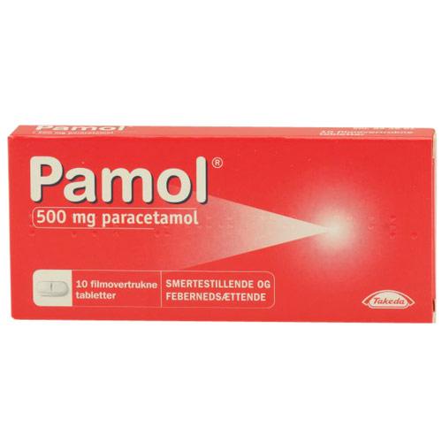 Image of Pamol 500 mg Paracetamol (10 tabletter)